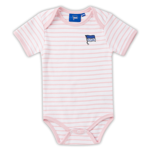 HBSC Baby Body rosa-weiss Gr. 50/56