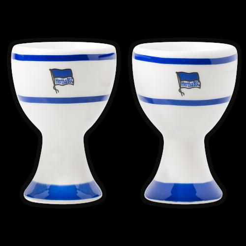 HBSC Eierbecher Set Logo blau-weiss