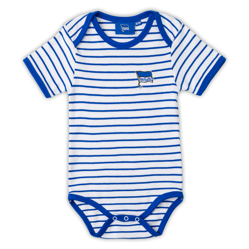 Baby Body blau-weiss Gr. 50/56