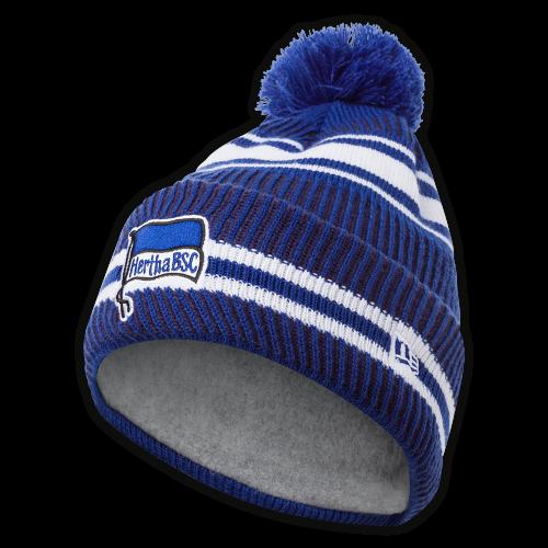 HBSC Mütze mit Bommel blau-weiss